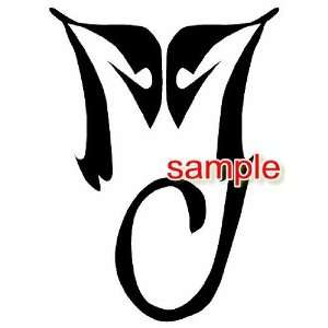 MICHAEL JACKSON INITIAL VINYL DECAL STICKER
