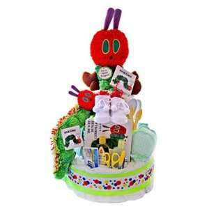 Hungry Caterpillar Diaper Cake   Unique Baby Shower Gift Idea Baby
