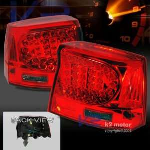 06 07 Dodge Charger Led Tail Lights Lamps Smoke/red