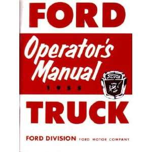 1955 FORD TRUCK Full Line Owners Manual User Guide