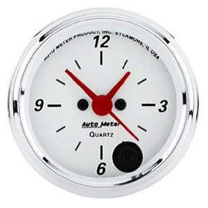 Auto Meter Arctic White Analog Gauges 1385 Automotive