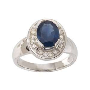 18ct Gold Sapphire & Diamond Ring Size 6.5 Jewelry