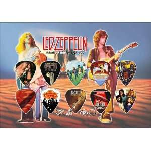 Led Zeppelin Guitar Pick Display Limited 200 Only