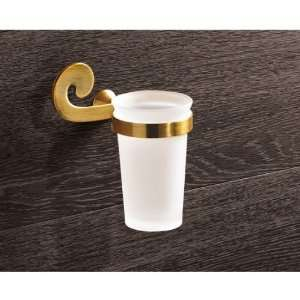 Gedy 3310 44 Wall Mounted Frosted Glass Toothbrush Holder With Bronze
