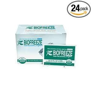 Biofreeze Pain Relieving Wipes 24 per box