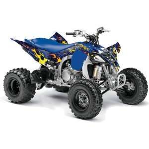 Yamaha YFZ 450 ATV Quad, Graphic Kit   Motorhead Blue Automotive