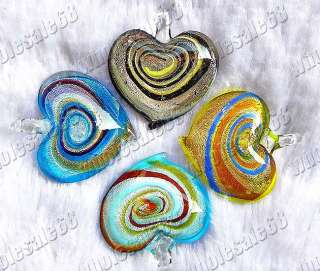 Fashion wholesale lots heart charm Murano Glass Pendant