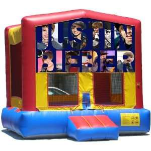 Justin Bieber Bounce House Inflatable Jumper Art Panel Theme Banner