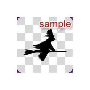 RANDOM SPEEDING WITCH 10 WHITE VINYL DECAL STICKER