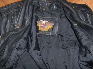 Harley Davidson Factory Distressed El Camino Style Leather Jacket