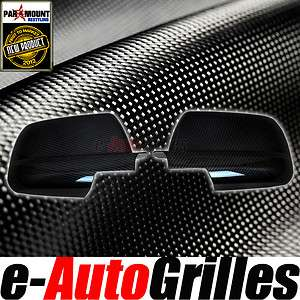 07 11 Toyota Tundra Crew Max Duble Cab Black Carbon Fiber Look Mirror