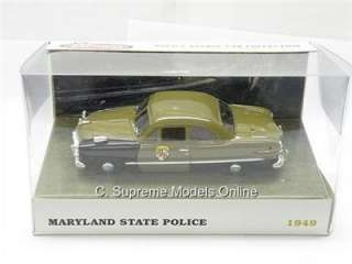 MARYLAND STATE PATROL POLICE CAR 1/43RD SCALE MODEL CAR MINT BOXED