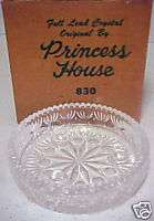 Princess House Full lead Crystal Candle Dish 1985 #830