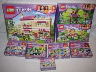LEGO FRIENDS LOT OF 8 OLIVIA HOUSE 3315 HEARTLAKE 3942 TREE HOUSE 3065