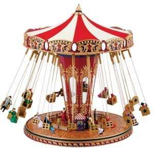 Fair Animated Musical Carnival Swing Carousel Ride