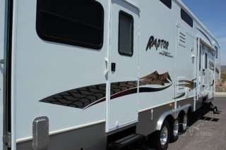 2006 KEYSTONE RAPTOR 3712 3 SLIDE 5TH WHEEL TOY HAULER EXTRA CLEAN