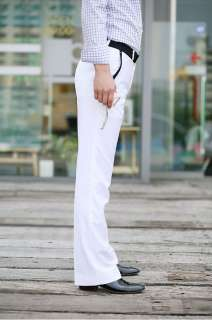 Mens Luxury Premium Fashional Dress Pants White M L XL