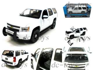 Welly 2008 Chevy Tahoe SUV Police Car 124 White