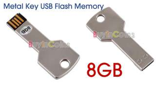 USB 2.0 Metal Key Flash Memory Stick Drive Pen 8GB 8 GB