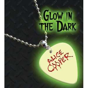 Alice Cooper Glow In The Dark Premium Guitar Pick Necklace