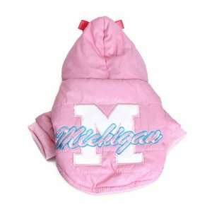 Pink Pet Dog Autumn Winter Coat Jacket (M)