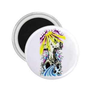 Tattoo Cross Art Fridge Souvenir Magnet 2.25