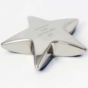 Personalized Engraved Star Paperweight  Unique Fathers Day