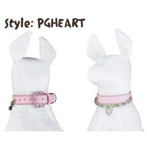 Pink Dog/Pet Collar with Heart Pendant and Matching Leash