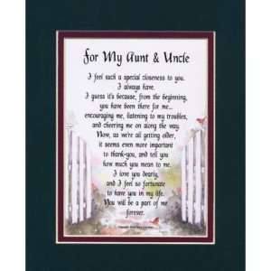 FOR MY AUNT & UNCLE   A GIFT FOR AUNT & UNCLE LOVE POEM