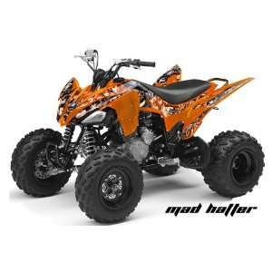 AMR Racing Yamaha Raptor 250 ATV Quad Graphic Kit   Madhatter Orange