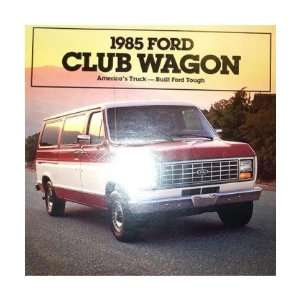1985 FORD ECONOLINE CLUB WAGON Sales Brochure