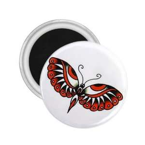 Tattoo Butterfly Eye Art Fridge Souvenir Magnet 2.25 Free