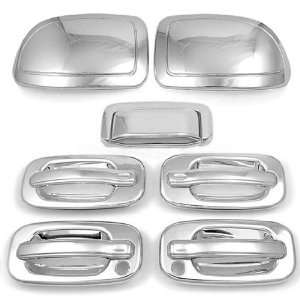 com Easy Installation Chrome Tailgate 4 Door Handle Mirror Cover Trim