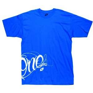 2012 ONE INDUSTRIES PARANOID TEE SHIRT BRIGHT BLUE XXL