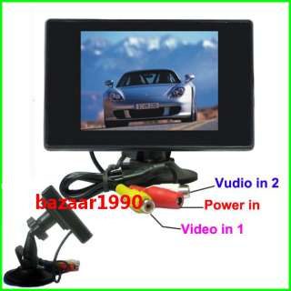 NEW 3.5 TFT LCD Digital Rearview Car Rear View Monitor