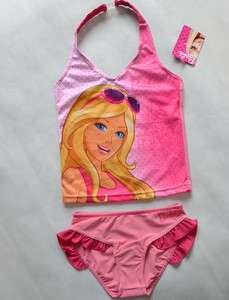 Girls Barbie Princess 2 8Y Swimsuit Swimwear Swimming Costume Tankini