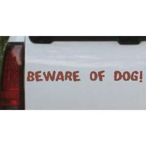 BEWARE OF DOG Decal Animals Car Window Wall Laptop Decal