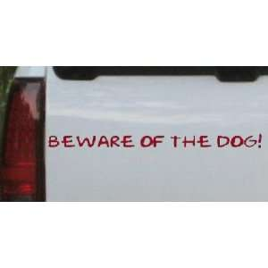 Beware Of The Dog Decal Animals Car Window Wall Laptop Decal Sticker