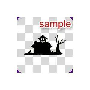 RANDOM HAUNTED HOUSE 10 WHITE VINYL DECAL STICKER