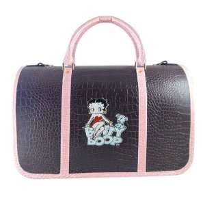 Betty Boop & Pudgy Blue Deluxe Dog Pet Carrier   Brown