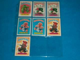 GARBAGE PAIL KIDS 1ST SERIES COMPLETE SET 88/88 HIGH GRADE CONDITION