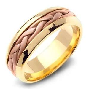 STEFANOS 14K Two Tone Braided Yellow Gold Wedding Band