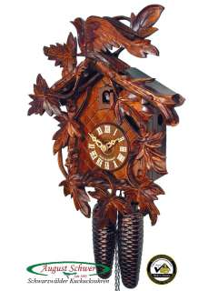 Black Forest Cuckoo Clock 8 Day 9 Leaves & Cuckoo NEW