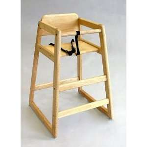 L.A. Baby Commercial Grade Wooden High Chair (L.A. Baby