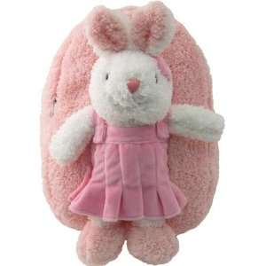 Girls Pink Plush Backpack with Bunny Stuffie item#kk8265 Toys & Games