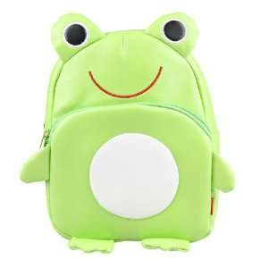 Linda Linda Green Frog Kids Bag, Little Kid Backpack
