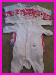 Cute Newborn Girl Baby Body Suits  Lot of 4 CHEAP