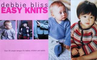 description debbie bliss easy knits knitting book over 25 simple