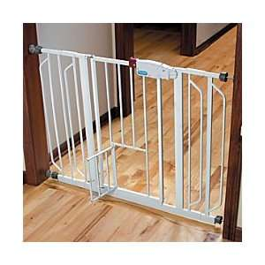 Extra Wide Walk Through Pet Gate With Small Door   Improvements Baby