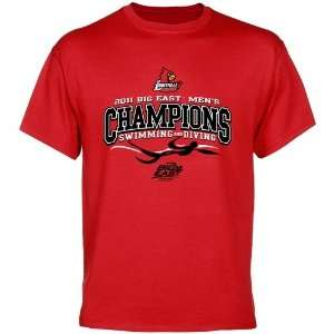 NCAA Louisville Cardinals Red 2011 Mens Swimming & Diving